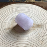 SOLD OUT: A-Grade Type A Natural Lavender Jadeite Jade Barrel Pendant No.170202