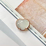 Icy A-Grade Jadeite Heart Bespoke Pendant (18k Rose Gold) No.171110