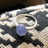 SOLD OUT: A-Grade Type A Natural Purple Jadeite Jade Ring (18k white gold and diamonds) No.161299