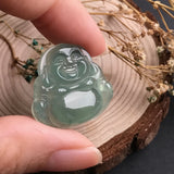 SOLD OUT: Icy A-Grade Type A Natural Jadeite Jade Green Buddha Pendant No.170206