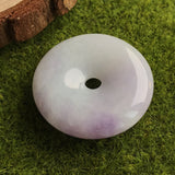 SOLD OUT: A-Grade Type A Natural Jadeite Jade Lavender Donut Pendant No.170207