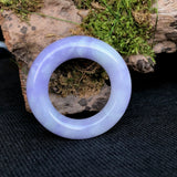 SOLD OUT: A-Grade Type A Natural Lavender Jadeite Jade Hoop Pendant No.170306