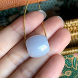 SOLD OUT: A-Grade Type A Natural Light Lavender Jadeite Jade Barrel Pendant No.170498