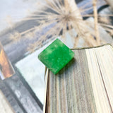 10.60ct A-Grade Natural Imperial Green Jadeite Rectangle Piece No.130079