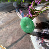 A-Grade Natural Imperial Green Jadeite Donut Pendant No.170681
