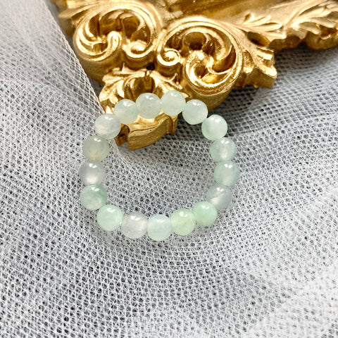 3.5mm A-Grade Natural Jadeite Bead Ring No.161511