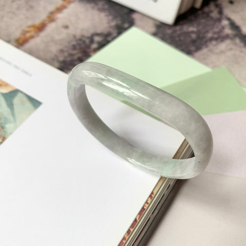 50.7mm A-Grade Jadeite Modern (Saddle Top) Bangle No.151778