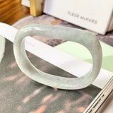 53.2mm A-Grade Jadeite Modern (Saddle Top) Bangle No.151779