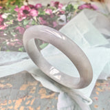 51.8mm A-Grade Jadeite Lavender Green Modern Oval Bangle No.151781