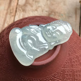 SOLD OUT: Icy A-Grade Type A Natural Jadeite Jade Baby Buddha Pendant No.170217