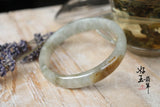 56mm A-Grade Type A Jadeite Jade Modern Round Bangle No. 151089