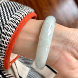 56.9mm A-Grade Natural Jadeite Modern Round Bangle No.151714