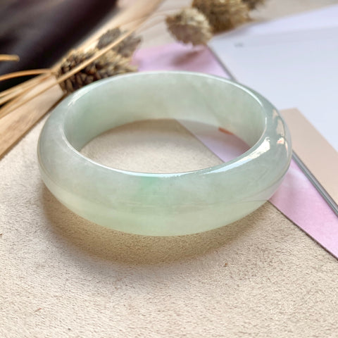 50.2mm A-Grade Natural Jadeite Modern Round Bangle No.151715