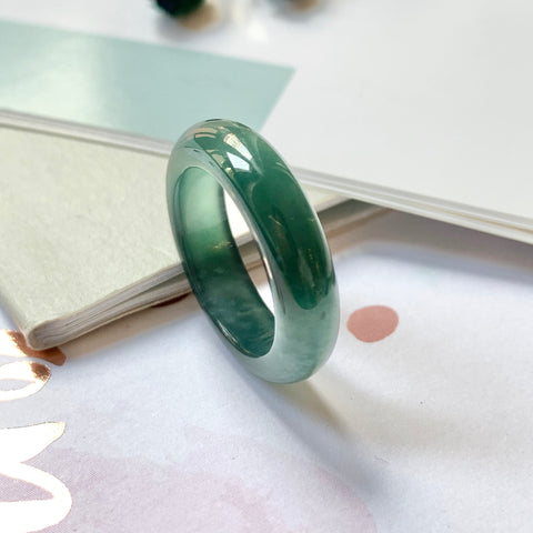 A-Grade Natural Jadeite Bespoke Ring Band No.161516