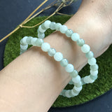 SOLD OUT: 6mm A-Grade Type A Natural Translucent Multi Colour Jadeite Jade Beaded Bracelet No.190034