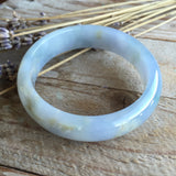SOLD OUT: 52.3mm A-Grade Type A Jadeite Jade Modern Round Bangle No.151078