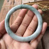 SOLD OUT: 52.4mm A-Grade Type A Jadeite Jade Traditional Round Bangle No.151355