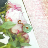Icy A-Grade Natural Green Jadeite Mini Donut Charms No.170695