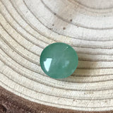 SOLD OUT: Icy A-Grade Type A Natural Green Jadeite Jade Round Cabochon Piece No.25064