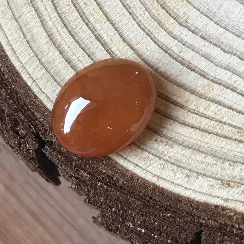 SOLD OUT: A-Grade Type A Natural Red Jadeite Jade Oval Cabochon Piece No.25061