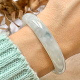 55.4mm A-Grade Jadeite Modern oval Bangle No.151723
