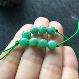 SOLD OUT: 6mm A-Grade Type A Natural Jadeite Jade Green and White Loose Beads No.190105