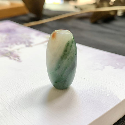 A-Grade Natural Floral Jadeite Barrel No.220396