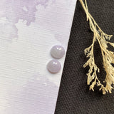 SOLD OUT: A-Grade Natural Lavender Jadeite Stud Earring No.180162