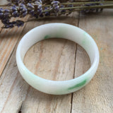 SOLD OUT: 50.1mm A-Grade Type A Jadeite Jade Modern Round Bangle No.151322