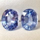 2.49ct Oval Pair Natural Blue Sapphire No.12011