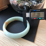 SOLD OUT: 54.8mm A-Grade Type A Natural Green and Red Jadeite Jade Modern Round Bangle No.151493