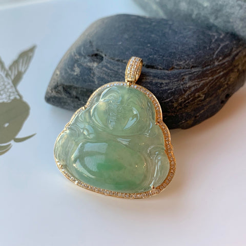 Final Setting Payment for A-Grade Natural Jadeite Buddha Pendant No.170670