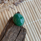 22.65ct A-Grade Natural Green Jadeite Jade Oval Cabochon No.220427