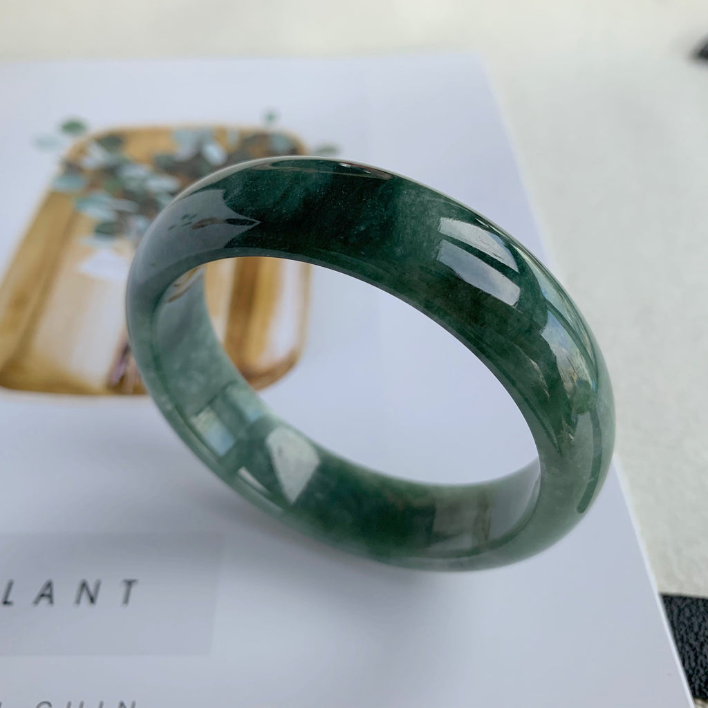 58.5mm A-Grade Jadeite Modern Round Bangle No.151606