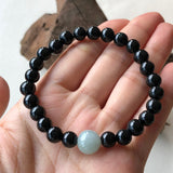 SOLD OUT: 7.2mm A-Grade Type A Natural Omphacite Jadeite Jade Beaded Bracelet No.190122