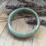 SOLD OUT: 50mm A-Grade Type A Jadeite Jade Oval Bangle No.151344