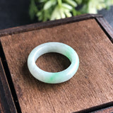 SOLD OUT: A-Grade Type A Natural Jadeite Jade Ring Band No.161255
