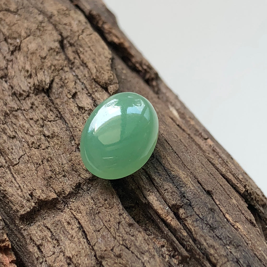 A-Grade Type A Natural Green Jadeite Jade Oval Cabochon Piece No.130049