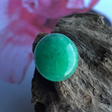 SOLD OUT: A-Grade Type A Natural Green Jadeite Jade Oval Cabochon Piece No.130057