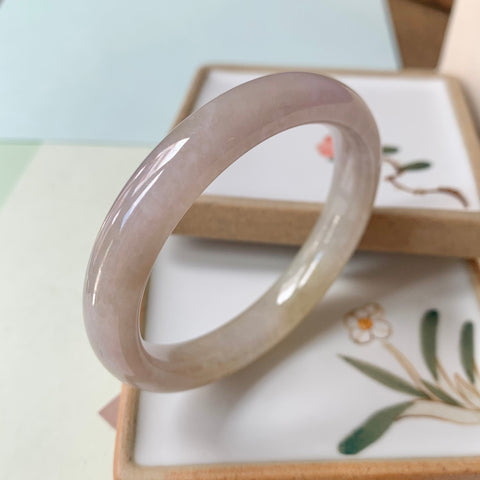 47.8mm A-Grade Natural Jadeite Modern Round Bangle No.151014