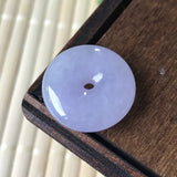 SOLD OUT: Icy A-Grade Type A Natural Pink Lavender Jadeite Jade Donut Pendant No.170278 & 170279