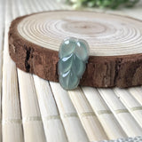 SOLD OUT: Icy A-Grade Type A Natural Light Green Jadeite Jade Leaf Piece No.170281