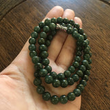 SOLD OUT: 7mm A-Grade Type A Jadeite Jade Green Beaded Necklace/Bracelet No.190003