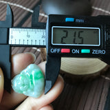 SOLD OUT: A-Grade Type A Natural Jadeite Jade Buddha Pendant (14k gold-filled bail) No.170413