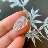 Icy A-Grade Natural Jadeite Leaf Pendant No.170767