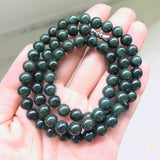 SOLD OUT: 7mm A-Grade Type A Natural Jadeite Jade Beaded Bracelet/ Necklace No.190050
