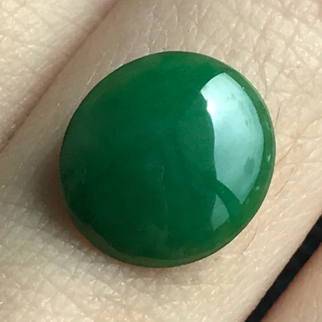 SOLD OUT: A-Grade Type A Natural Green Jadeite Jade Oval Cabochon No.130001