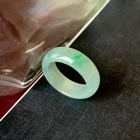 A-Grade Natural Jadeite Ring Band No.161379