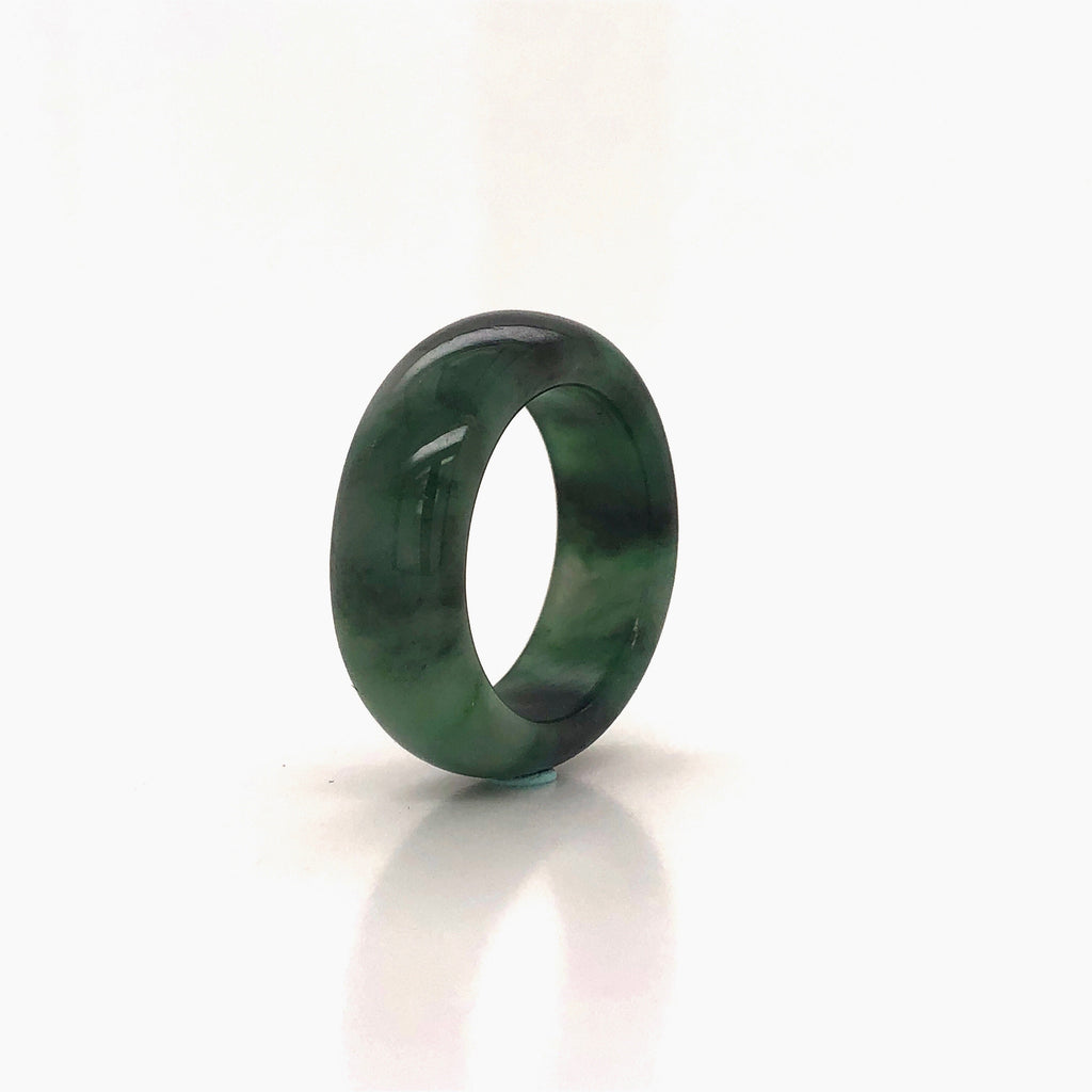 A-Grade Natural Jadeite Abacus Ring Band No.161394