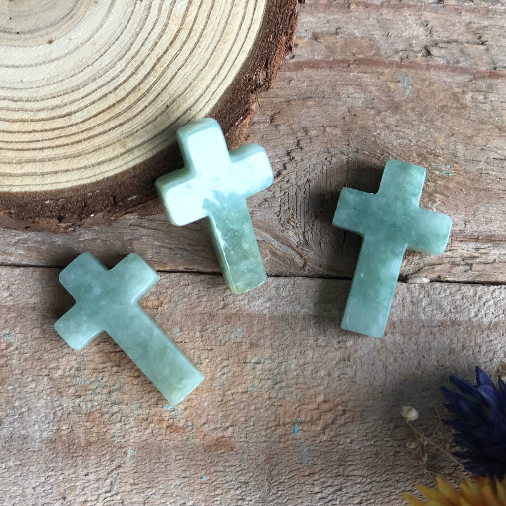 SOLD OUT: Customised A-Grade Type A Natural Jadeite Jade Cross Pendants (3 pieces)https://yokdeejadeite.myshopify.com/admin/products